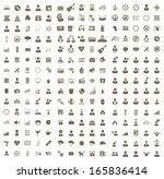 set of business  health  music  ... | Shutterstock . vector #165836414