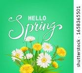 hello spring lettering template ... | Shutterstock .eps vector #1658365501