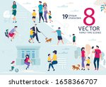 family time  parents with... | Shutterstock .eps vector #1658366707