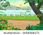 sunrise at early morning... | Shutterstock . vector #1658368171