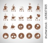 tea icons set   isolated on... | Shutterstock .eps vector #165837305