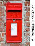 British Red Post Box Set In...