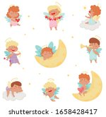 Cute Baby Angels With Nimbus...