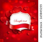 valentine's day background with ... | Shutterstock .eps vector #165845255
