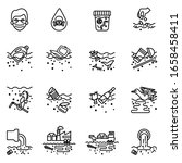 water pollution icons set with...   Shutterstock .eps vector #1658458411