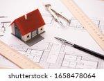 A Model House On Blueprints...