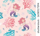 seamless pattern with cute... | Shutterstock .eps vector #1658517394