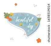 floral spring blue speech...   Shutterstock .eps vector #1658519014