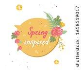 floral yellow speech bubble...   Shutterstock .eps vector #1658519017