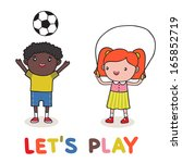 how kids are playing together...   Shutterstock . vector #165852719