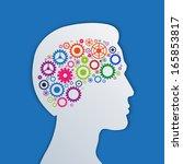 brain gears in the head  human... | Shutterstock . vector #165853817