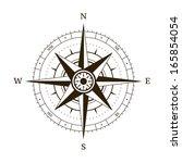 navigation compass wind rose... | Shutterstock . vector #165854054
