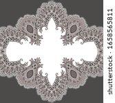 vector lace frame. romantic... | Shutterstock .eps vector #1658565811