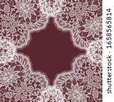 vector lace frame. romantic... | Shutterstock .eps vector #1658565814