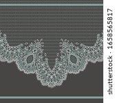 vector lace frame. romantic... | Shutterstock .eps vector #1658565817