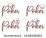 casino poker cards banner ... | Shutterstock .eps vector #1658568301