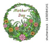 happy mother's day. greeting... | Shutterstock .eps vector #1658584141