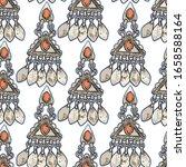 vector ethnic vintage jewelry... | Shutterstock .eps vector #1658588164
