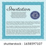 light blue vintage invitation... | Shutterstock .eps vector #1658597107