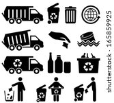 recycling and trash icons for... | Shutterstock .eps vector #165859925