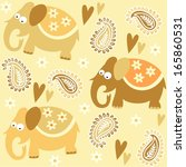 seamless elephant kids pattern... | Shutterstock .eps vector #165860531
