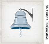vintage nautical card with... | Shutterstock .eps vector #165861701