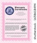 pink vintage warranty... | Shutterstock .eps vector #1658618494