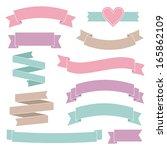 vintage wedding ribbons... | Shutterstock .eps vector #165862109
