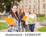 summer holidays  education ... | Shutterstock . vector #165864149