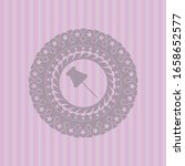 paper pin icon inside pink... | Shutterstock .eps vector #1658652577