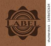 label wood emblem. vintage.... | Shutterstock .eps vector #1658652634