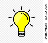yellow light bulb icon on... | Shutterstock .eps vector #1658659021