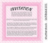 pink vintage invitation. money... | Shutterstock .eps vector #1658666101