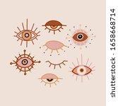 evil eye pastel vector isolated ... | Shutterstock .eps vector #1658668714