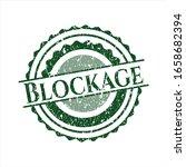 green blockage distress rubber... | Shutterstock .eps vector #1658682394