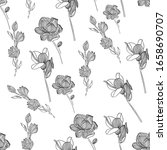 patterned floral pattern with...   Shutterstock . vector #1658690707