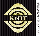 knit gold badge or emblem.... | Shutterstock .eps vector #1658699101