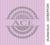 ace vintage pink emblem. vector ... | Shutterstock .eps vector #1658699104