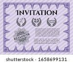 violet vintage invitation.... | Shutterstock .eps vector #1658699131