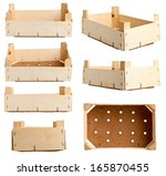 wooden fruit tray or crate from ... | Shutterstock . vector #165870455