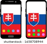 two black smartphones with a... | Shutterstock .eps vector #1658708944