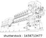 diesel generator unit for... | Shutterstock .eps vector #1658713477