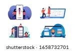 set bundle of business woman... | Shutterstock .eps vector #1658732701