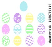 cute and colorful easter egg... | Shutterstock .eps vector #1658798614