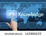 knowledge concept with... | Shutterstock . vector #165880655