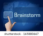 brainstorm concept with... | Shutterstock . vector #165880667