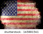 american flag waving in the... | Shutterstock . vector #165881561