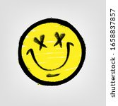 graffiti emoticon. smiling face ... | Shutterstock .eps vector #1658837857