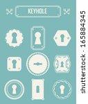set of keyholes. vintage design ... | Shutterstock .eps vector #165884345