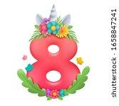 8 march. happy women's day.... | Shutterstock .eps vector #1658847241
